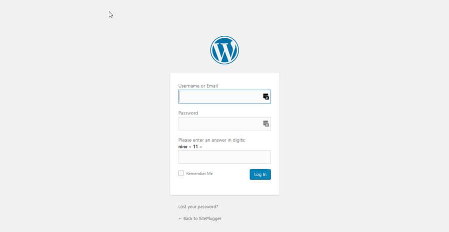 Adding a Logo using WordPress